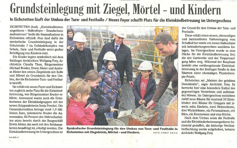 德国弗莱建筑设计集团: 埃希施达特奠基仪式
