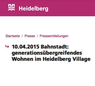 Heidelberg Village in Heidelberg-Bahnstadt