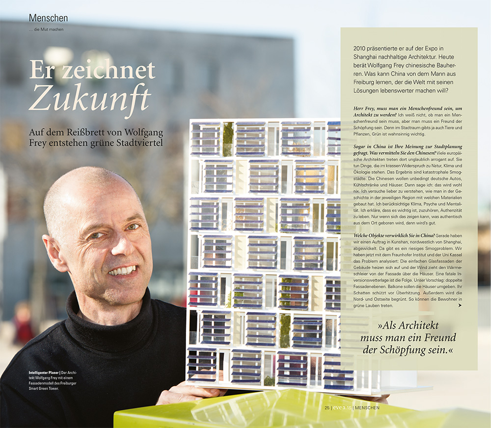 Interview Wolfgang Frey im eve-Magazin