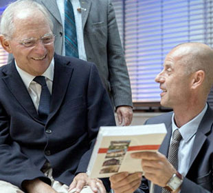 Wolfgang Schäuble mit Wolfgang Frey Freiburg