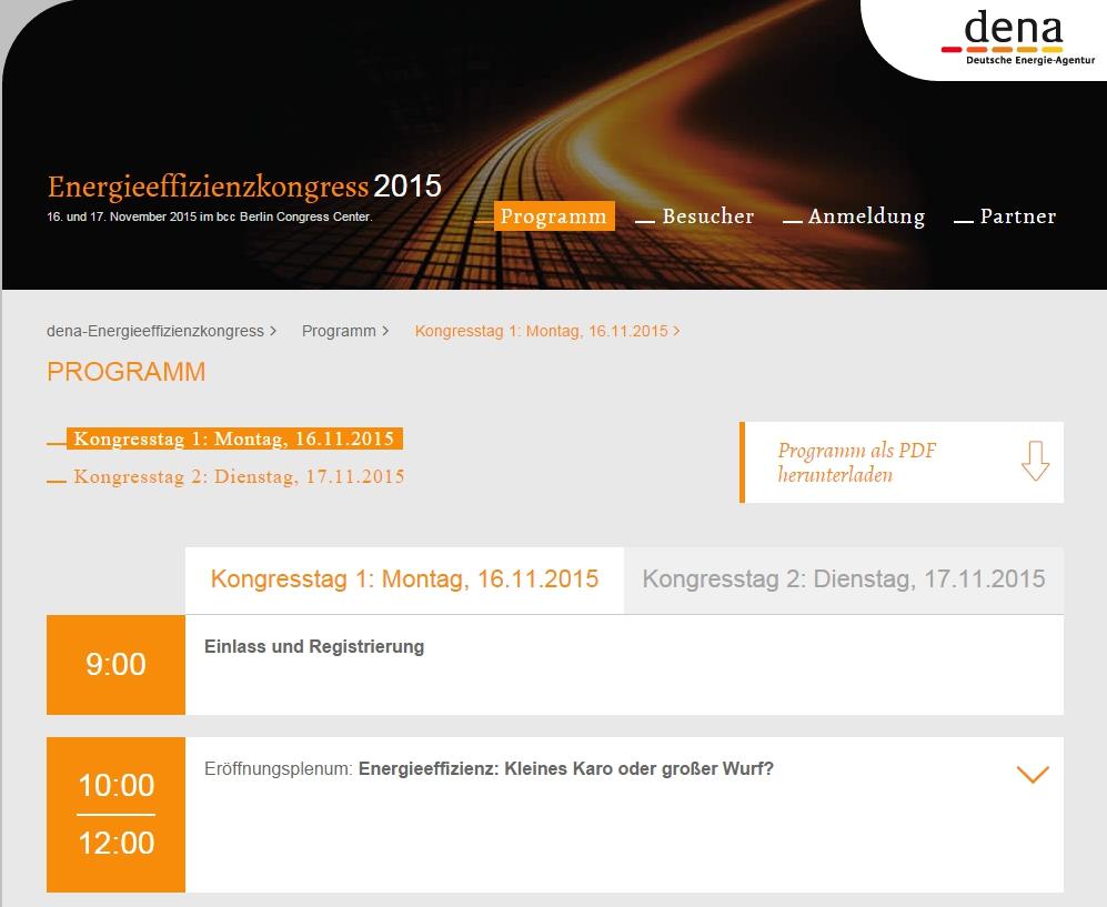 dena-energiekongress 2015