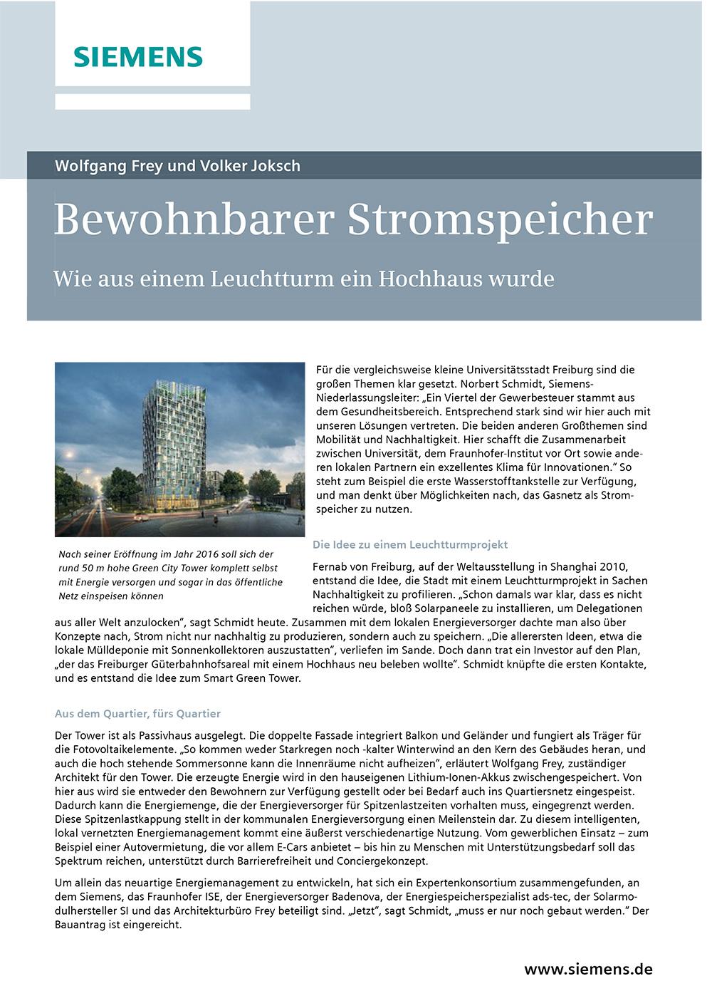 Smart Green Tower Freiburg Frey Architekten
