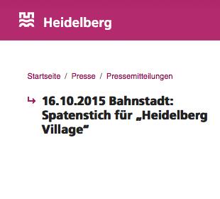 Spatenstich Heidelberg Village Frey Architekten