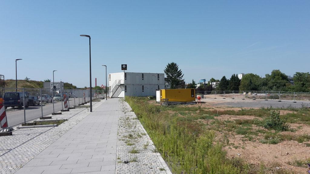 2015-05-29: Aufbau der Baustelleneinrichtung