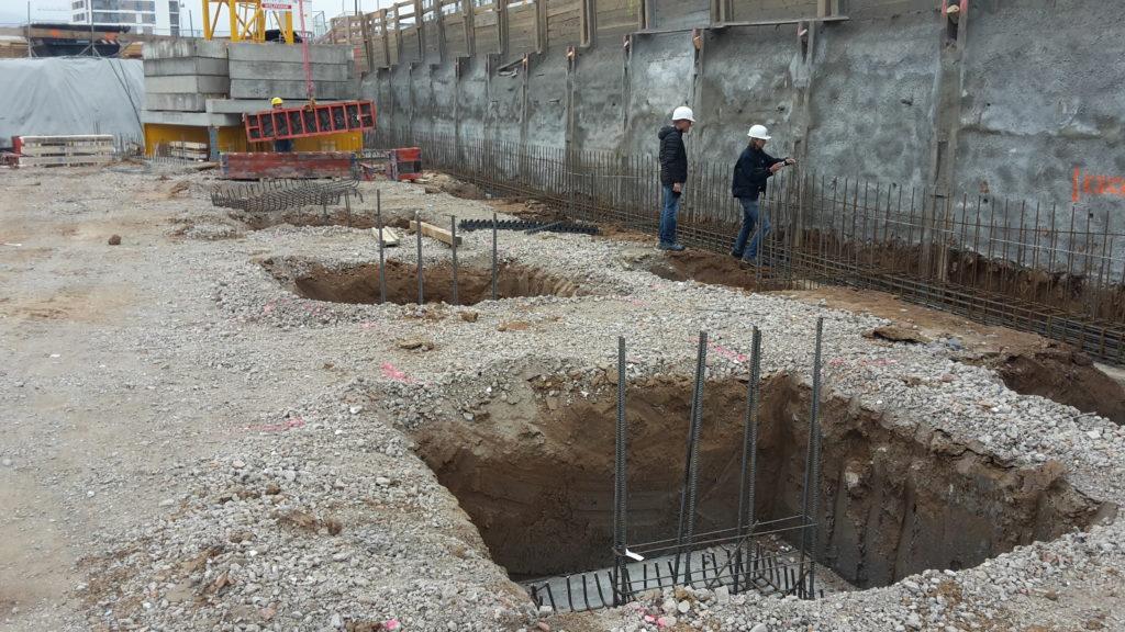 2015-10-29: Bauteil B – Fundamentarbeiten