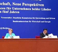 Chinabesuch mit Bundeskanzlerin Merkel