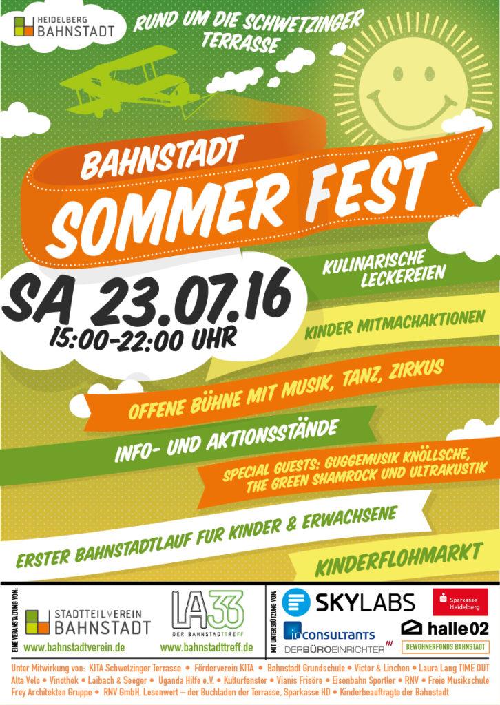 Sommerfest Bahnstadt Heidelberg Village