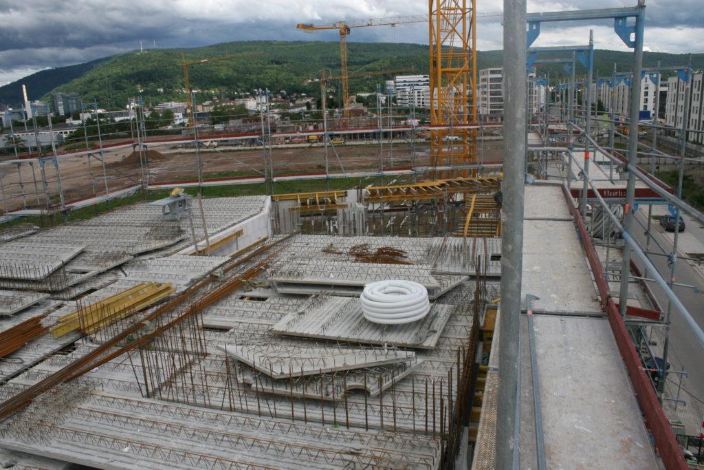 Bauteil B: Verlegung Filigrandecken 2. OG