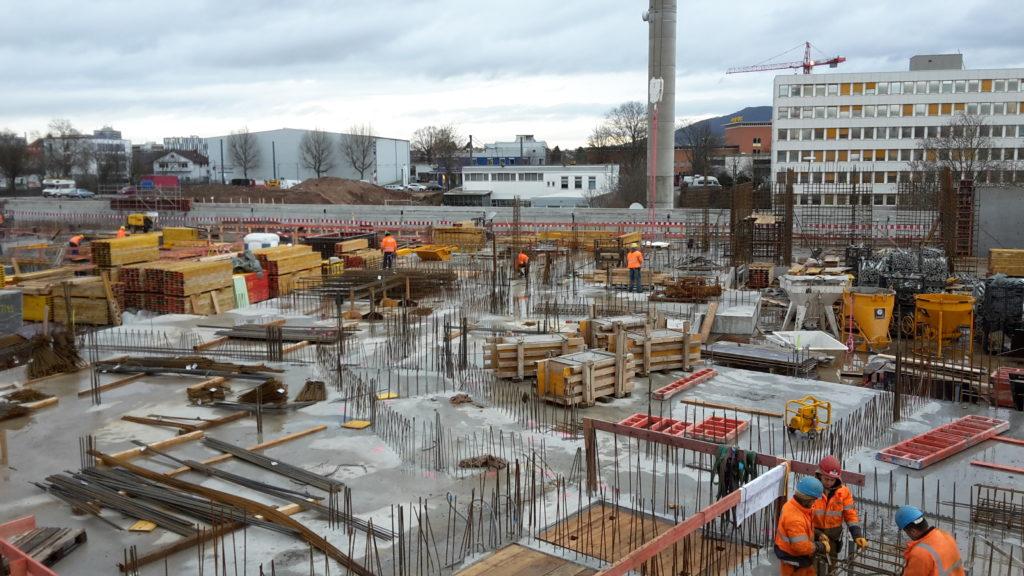 Bauteil B: Bewehrungsarbeiten Achse 20 / O