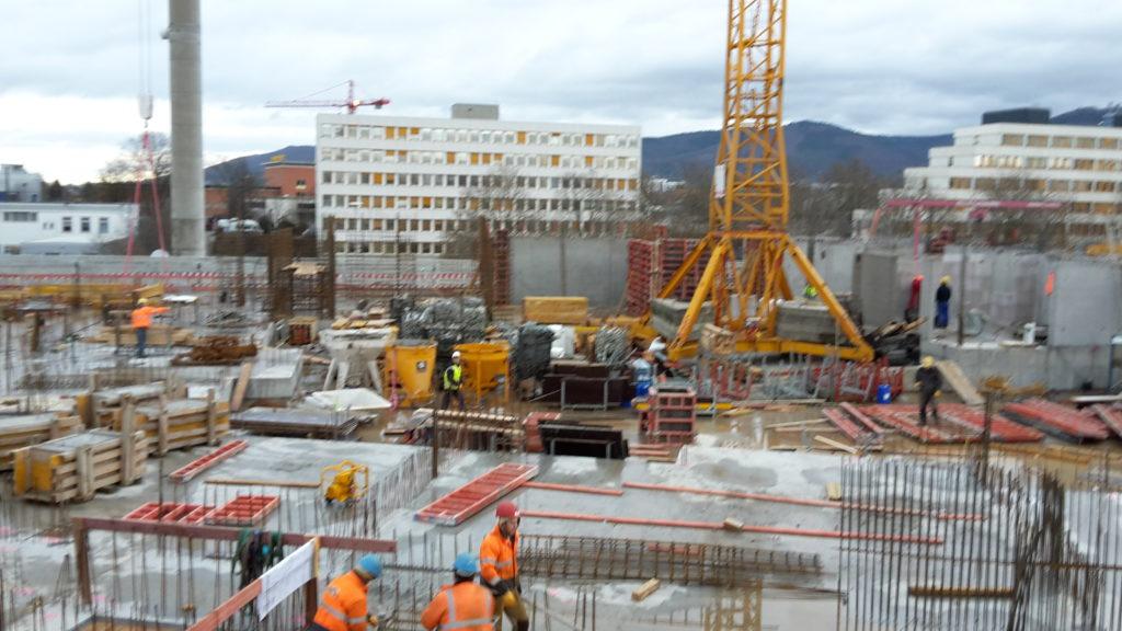 Ansicht des Baufortschrittes Bauteil B