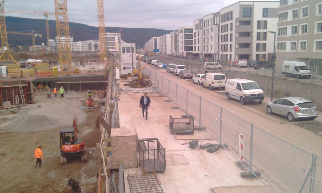 楼宇A的 20号轴位的挖槽工作
