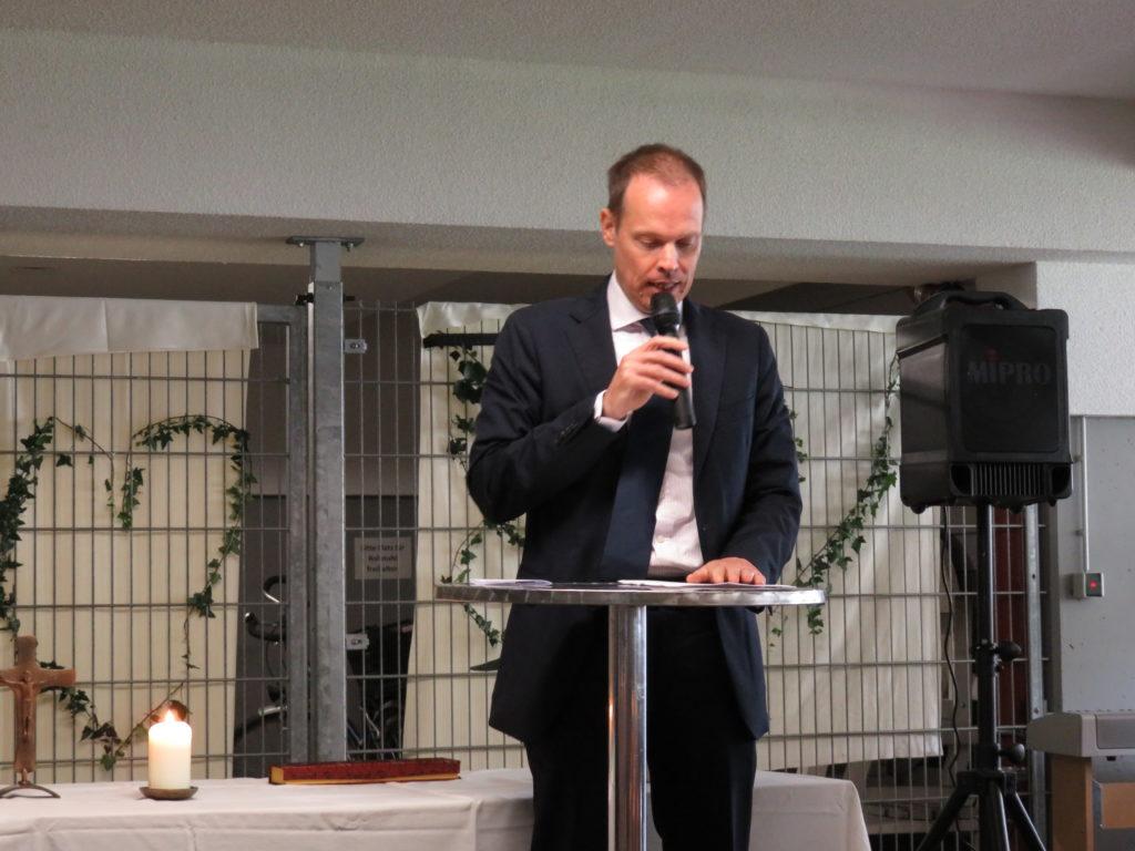 Rede von Herr Dr. Gantert, Stellvertreter des Vorstands des Caritas-Verbandes