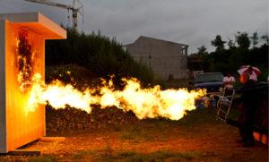 木材防火测试