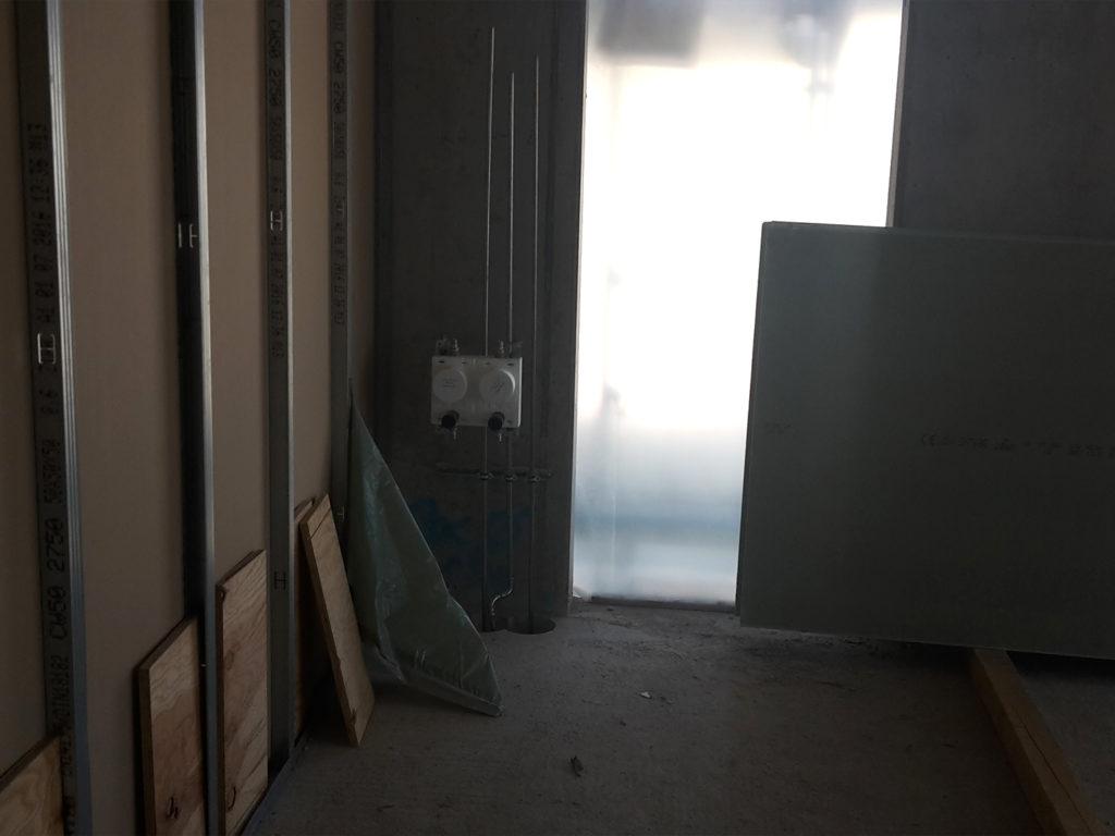 Bautenstand Haus B Trockenbauarbeiten