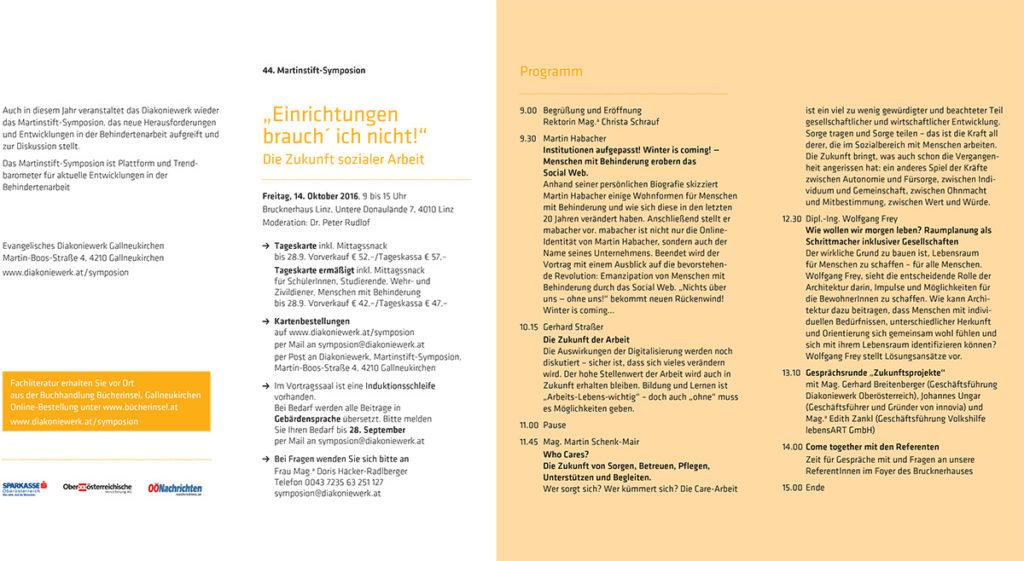 Wolfgang Frey auf dem 44. Martinstift-Symposium in Österreich
