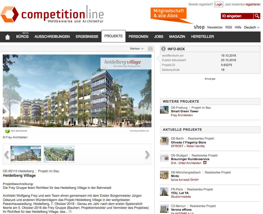 competitionline Heidelberg Village Frey Architekten