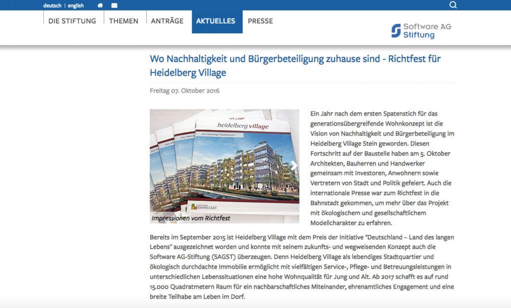 Software AG Stiftung SAGST Heidelberg Village