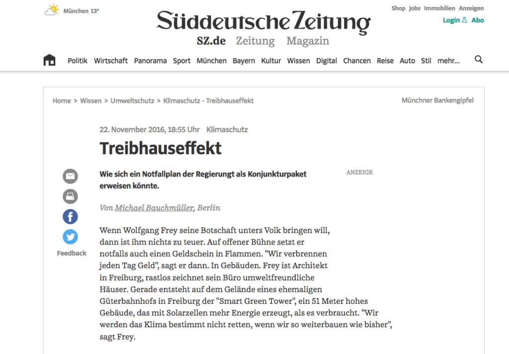 Süddeutsche Zeitung Wolfgang Frey Smart Green Tower