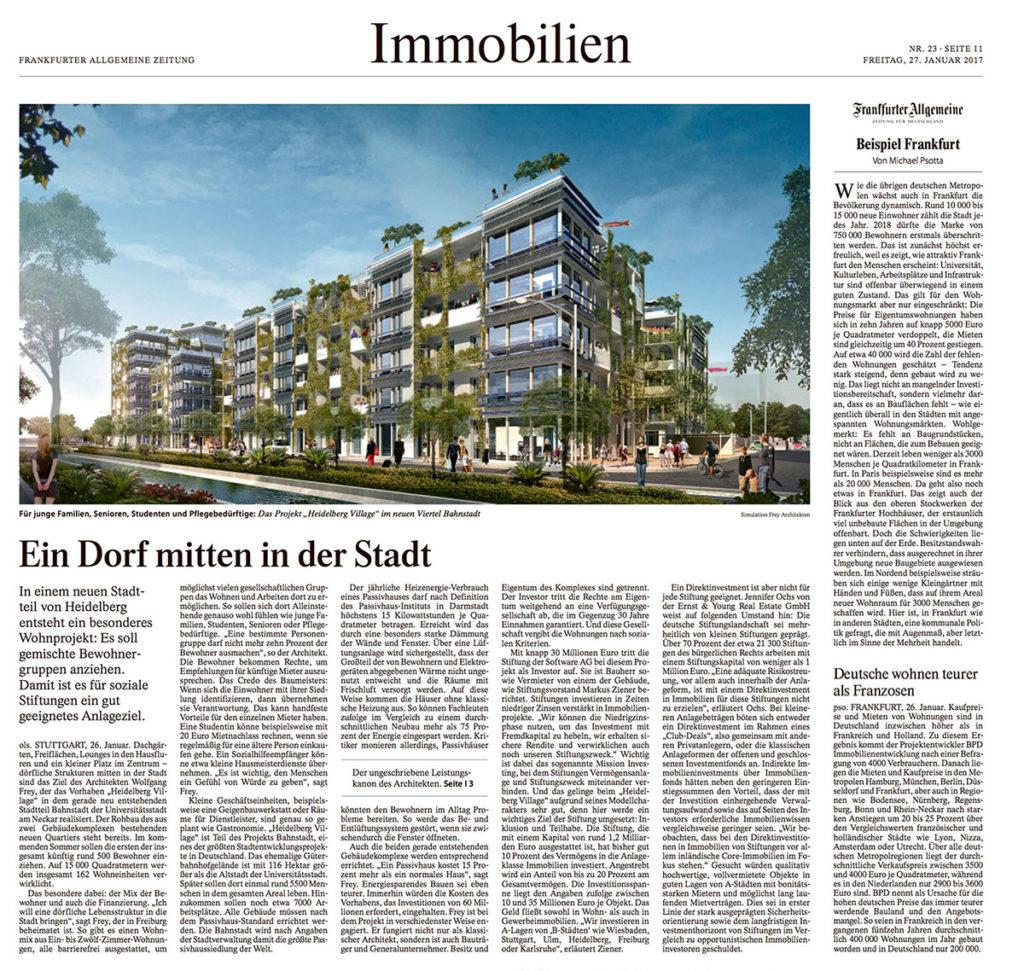 FAZ Frankfurter Allgemeine Wolfgang Frey Heidelberg Village