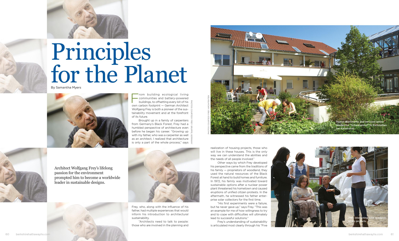 Unique Homes Magazine: Principles For The Planet28.06.17